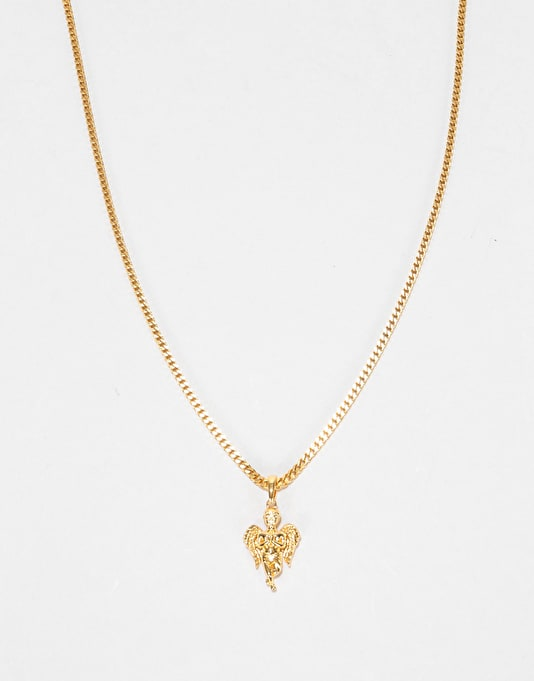 Midvs Co 18K Gold Plated Angel Necklace - Gold