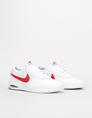 Nike SB Air Max Bruin Vapor Skate Shoes - White/Gym Red-Game Royal