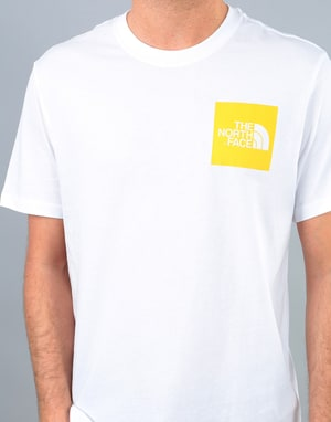 The North Face S/S Fine T-Shirt - TNF White/TNF Yellow