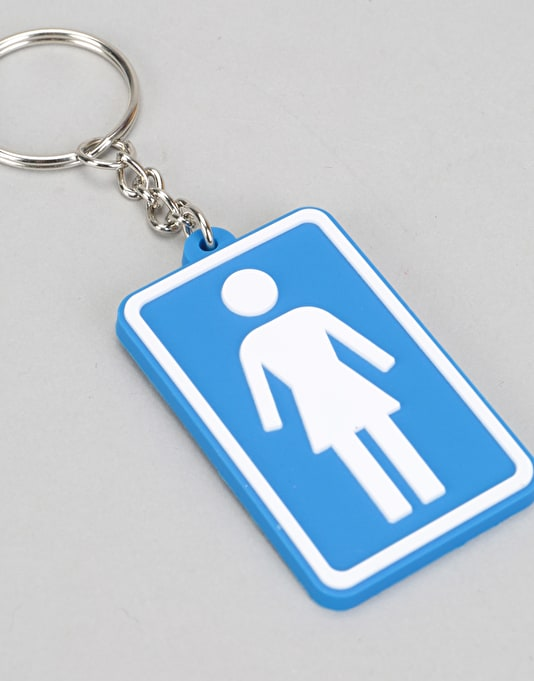 Girl Rubber Keychain - Blue