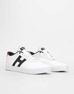 HUF Galaxy Skate Shoes - White/Orange/Navy