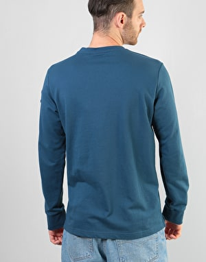 Nicce Patriot Sweat L/S T-Shirt - Majorca Blue