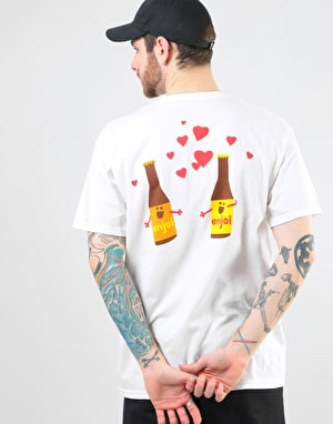 Enjoi Smitten Beer T-Shirt - White