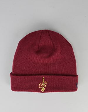 New Era NBA Cleveland Cavaliers Team Essential Cuff Beanie - Burgundy