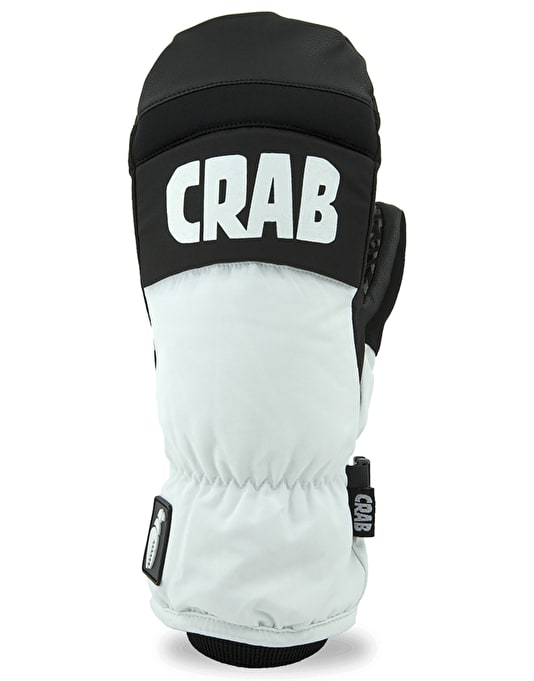 crab grab punch 2018 snowboard mitts white snowboard gloves