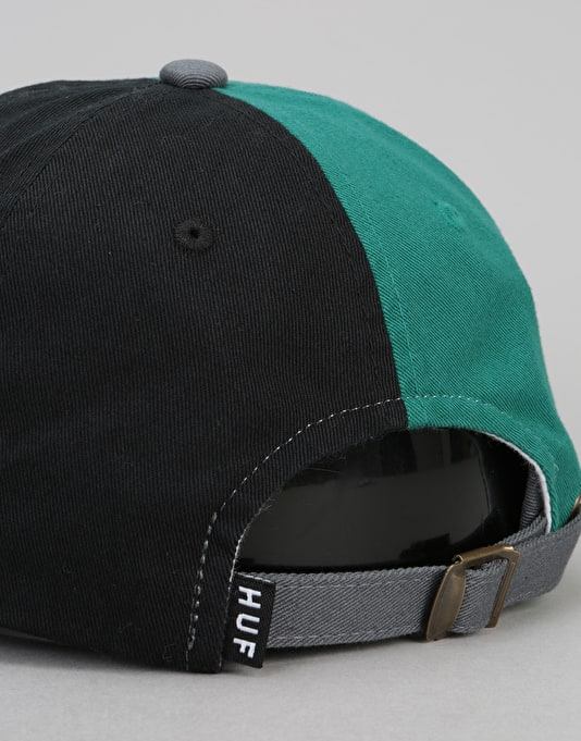 HUF Country Club Curve Visor 6 Panel Cap - Black