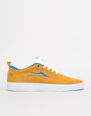 Lakai Bristol Skate Shoes - Gold/Blue Suede