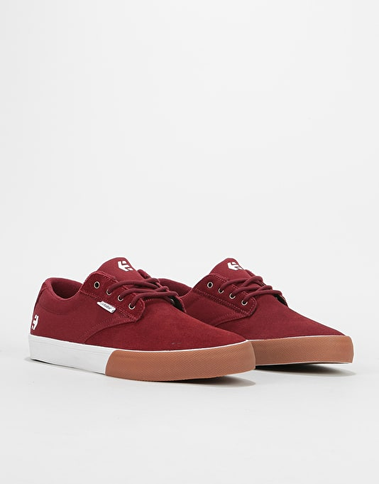 Etnies Jameson Vulc Skate Shoes - Burgundy/Gum