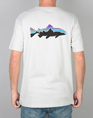 Patagonia Fitz Roy Trout T-Shirt - Tailored Grey