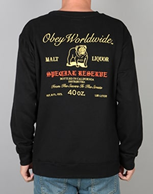 Obey Special Reserve Crew - Black