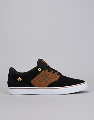 Emerica The Reynolds Low Vulc Skate Shoes - Black/Tan