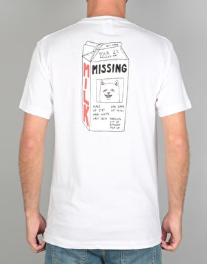 RIPNDIP Milk Carton Pocket T-Shirt - White