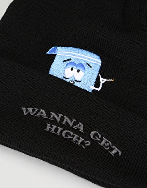 HUF x South Park Towelie Beanie - Black