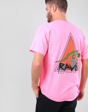 Rave Vertical Limit T-Shirt - Safety Pink