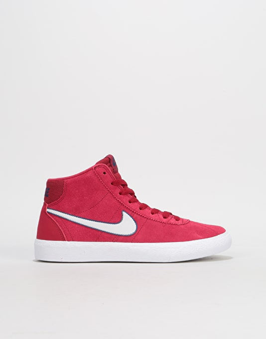 6250046b17f7 Nike SB Bruin Hi Womens Trainers - Red Crush Vast Grey White ...