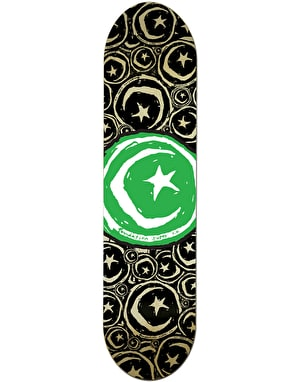 Foundation Star & Moon Stickered Skateboard Deck - 8.375