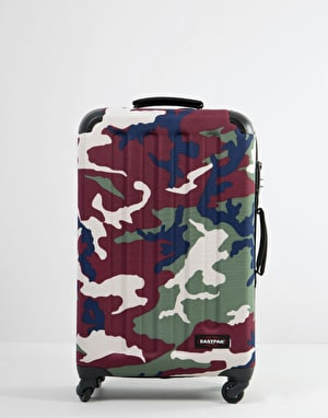 Eastpak Tranzshell Medium Wheeled Luggage Bag - Camo Green