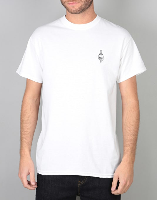 Scarred For Life Day Of The Dead T-Shirt - White