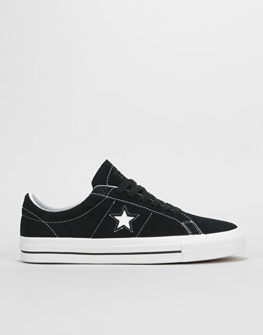 6401b90920cfd8 Converse One Star Pro Ox Skate Shoes - Black White