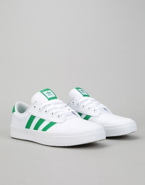 Adidas Kiel Skate Shoes - White/Green/White