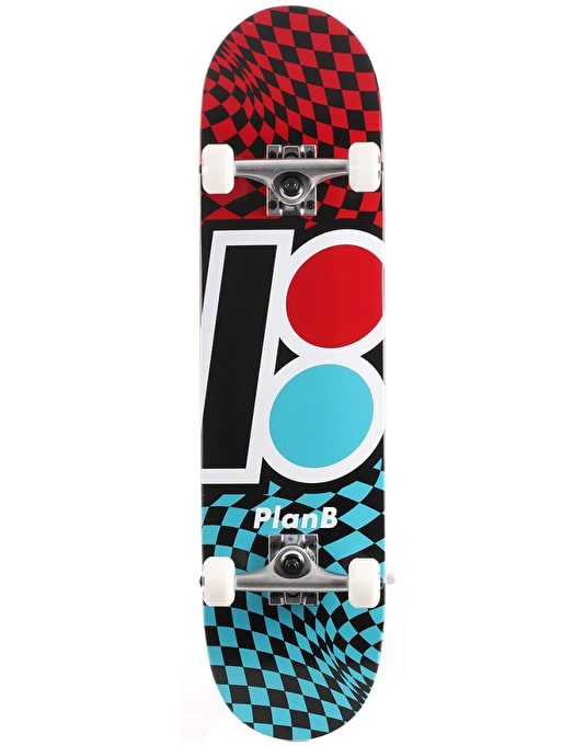 Plan B Checker Complete Skateboard - 7.875""