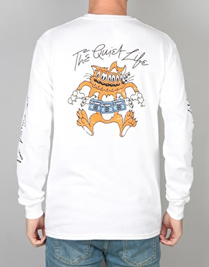The Quiet Life Shakey Cat L/S T-Shirt - White