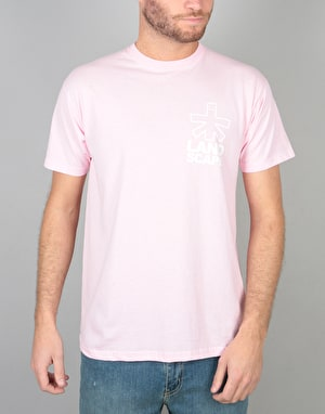 Landscape Outline T-Shirt - Pink