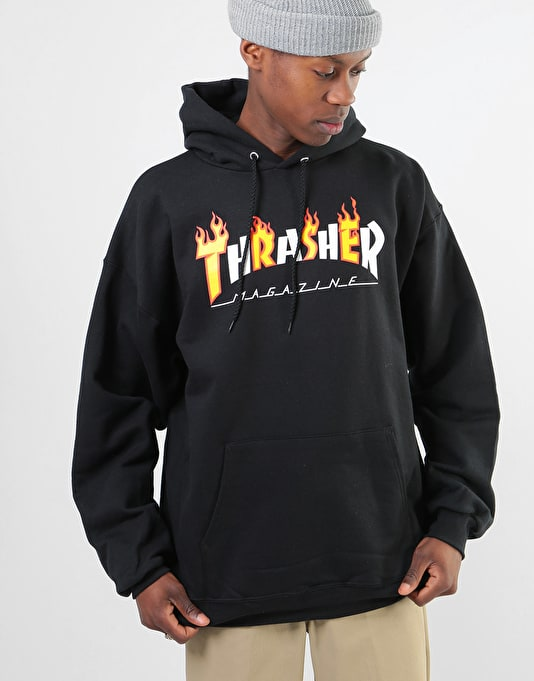Thrasher Flame Mag Pullover Hoodie - Black