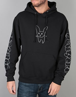 Chrystie Summer Rabbit Pullover Hoodie  - Black