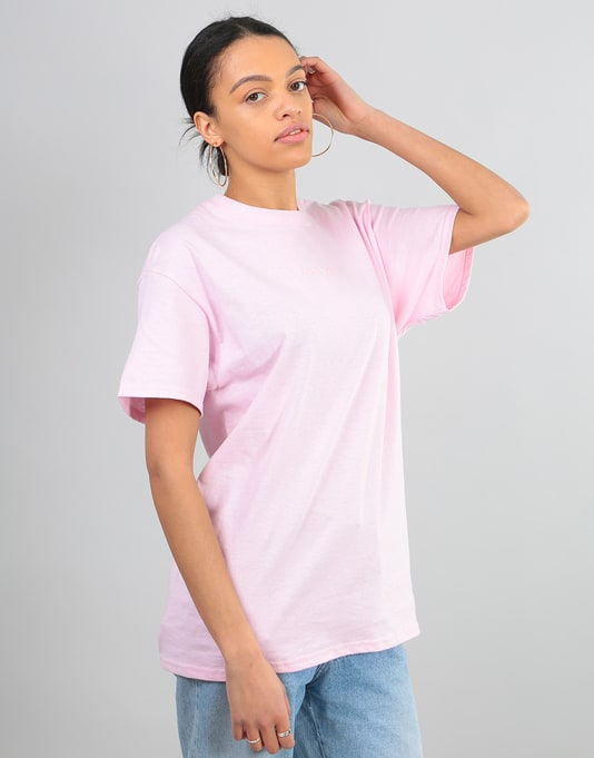 Route One Embroidered Logo Oversized T-Shirt - Light Pink