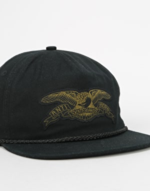 Anti Hero Stock Eagle Patch Snapback Cap - Black/Olive