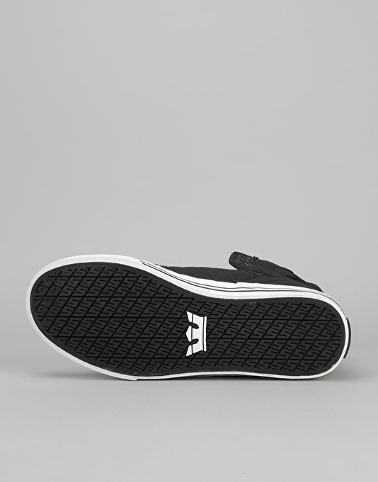 Supra Skytop Skate Shoes - Black/White-White