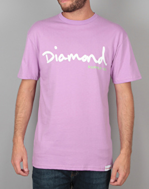 Diamond Supply Co. OG Script T-Shirt - Lavender