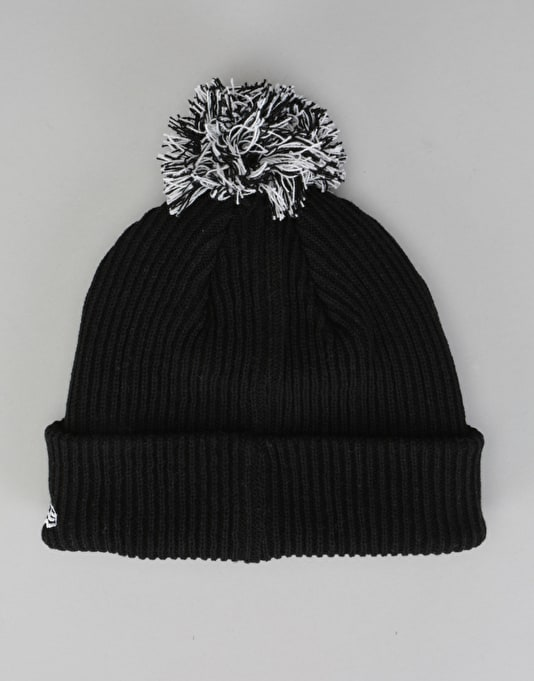 New Era MLB New York Yankees Short Bobble Beanie - Black