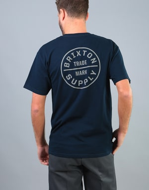 Brixton Oath T-Shirt - Navy/Grey