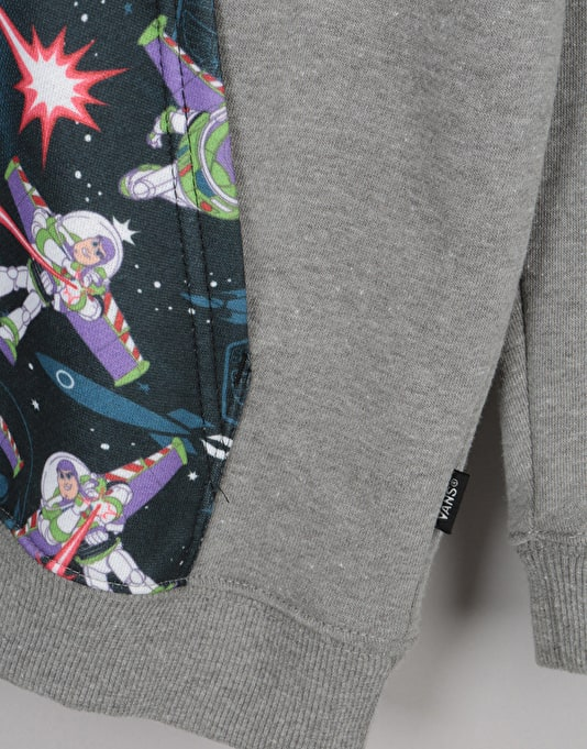 Vans x Toy Story Buzz Light Year Boys Pullover Hoodie - Heather Grey