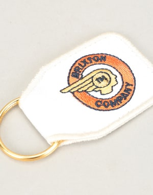Brixton Tribute Key Chain - Orange/White