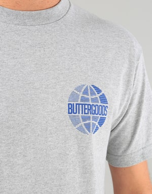 Butter Goods Lateral Worldwide T-Shirt - Heather