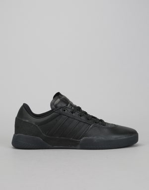 Adidas City Cup Skate Shoes - Core Black/Core Black/Gold Metallic