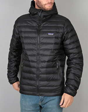 Patagonia Down Sweater Hoody Jacket - Black