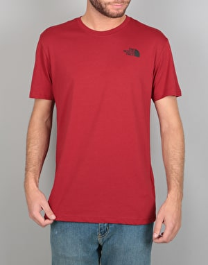 The North Face S/S Red Box T-Shirt - Cardinal Red