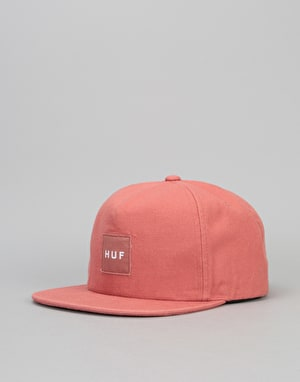HUF Wash Canvas Box Logo Snapback Cap - Nautical Red