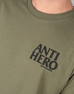 Anti Hero Lil Blackhero T-Shirt - Military Green/Black