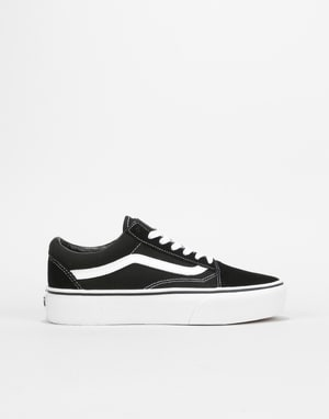 Vans Old Skool Platform Womens Trainers - Black/White