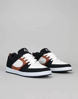 éS Accel Slim Skate Shoes - Navy/Tan/White