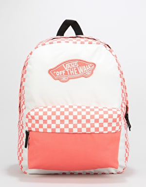 Vans Realm Backpack - Spiced Coral Checkerboard