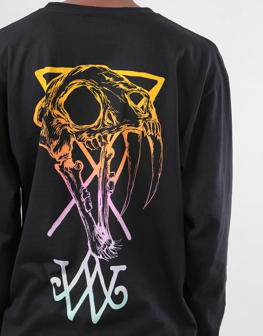 Welcome Saberskull L/S T-Shirt - Black/Rainbow