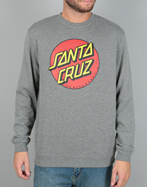 Santa Cruz Classic Dot Crew - Dark Heather