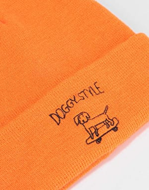Route One Doggy Style Beanie - Orange