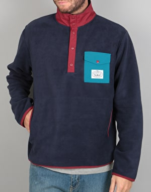 Poler Snap Fleece Sweatshirt - Navy
